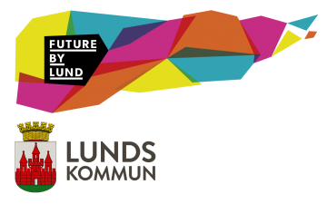 The logos of Lunds Kommun and Future by Lund